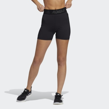 Women Training Black Techfit Badge of Sport Short Tights