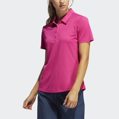 Women Golf Burgundy Performance Primegreen Polo Shirt