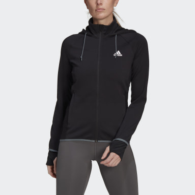Women Training Black adidas Women Designed To Move AEROREADY Full-Zip Hoodie