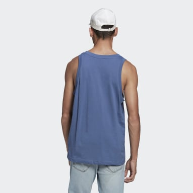 Men Originals Blue Trefoil Tank Top