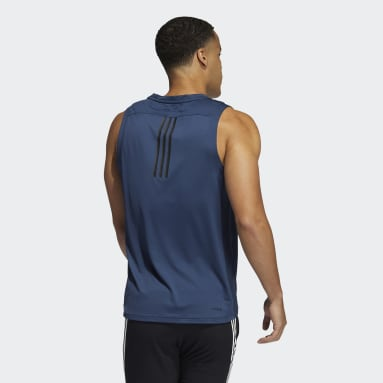 Men Training Blue AEROREADY 3-Stripes Primeblue Tank Top
