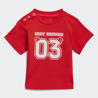 Kids Sportswear Red adidas x Disney Tee and Pants