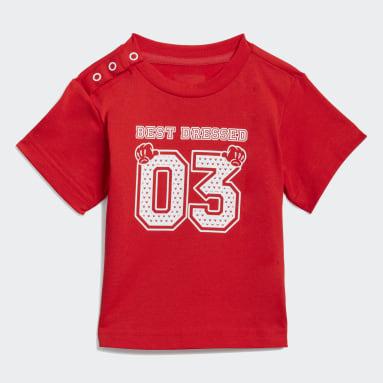 Calça e Camiseta adidas x Disney Vermelho Kids Training