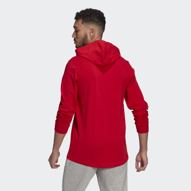 Men's Essentials Red adidas Essentials Small Logo Hoodie