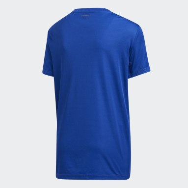Youth Training Blue Rep Clima Perf Tee