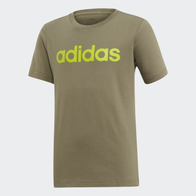 Boys Sportswear Green Essentials Linear Logo Tee