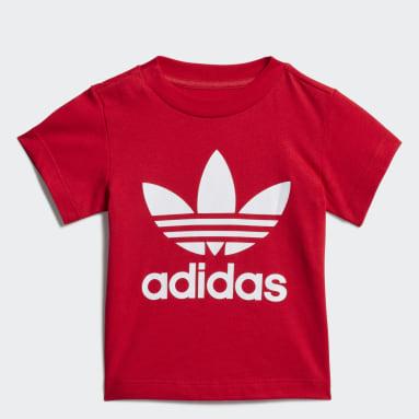 Infants Originals สีแดง เสื้อยืด Trefoil