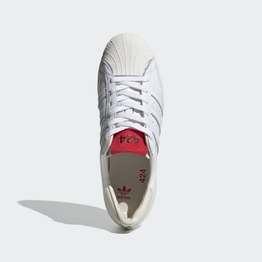 Originals White 424 Shell-Toe Shoes