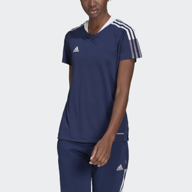 Women Football Blue Tiro 21 Training Jersey