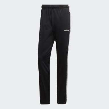 Pants Essentials 3 Franjas Tapered Negro Hombre Training
