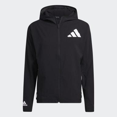 Gym & Training Black Unite Full Zip 3-Stripes Woven Jacket (Gender Neutral)