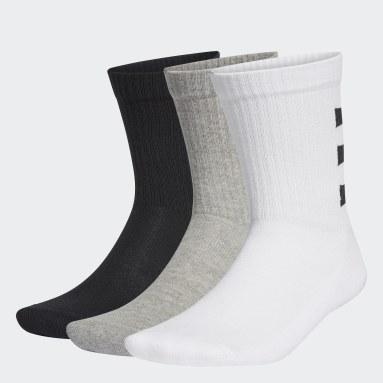 Calcetines Clásicos Semiacolchados 3 Tiras 3 Pares (UNISEX) Blanco Training