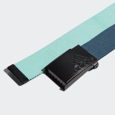 Men Golf Turquoise Reversible Web Belt