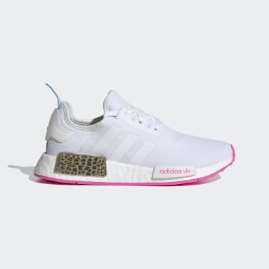 Genç Originals Beyaz NMD_R1 Ayakkabı