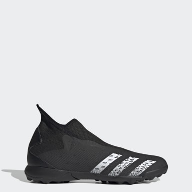 Football Black Predator Freak.3 Laceless Turf Boots