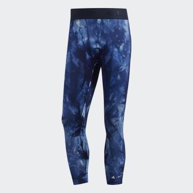 Calzas 3/4 Alphaskin Parley - Tiro Bajo Azul Hombre Running