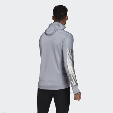 Men Running Grey Space Race Hoodie