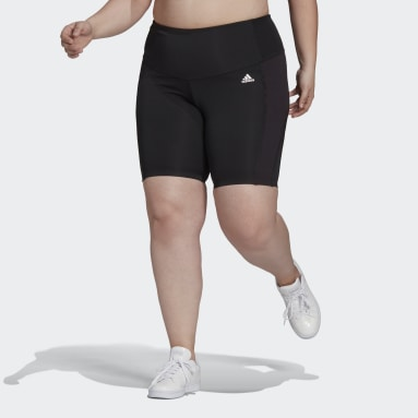 Women's Training Black adidas Designed 2 Move AEROREADY Dance Short Tights (Plus Size)