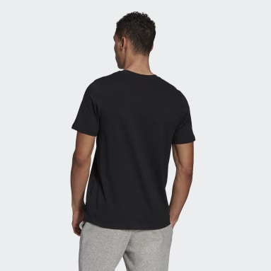 Men Sport Inspired Black Recycled Cotton Logo Graphic Tee