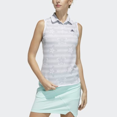 Women Golf Grey Sleeveless Polo Shirt
