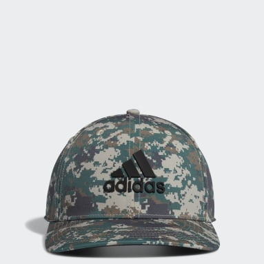 Men Golf Green Tour Camo-Print Hat
