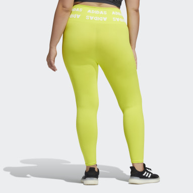 Women's Training Yellow Training Aeroknit 7/8 High-Rise Tights (Plus Size)