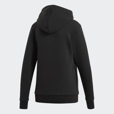 Women's Essentials Black 3-Stripes Hoodie