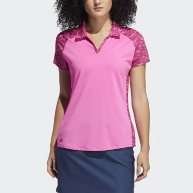 Dames Golf Roze Ultimate365 Primegreen Printed Poloshirt