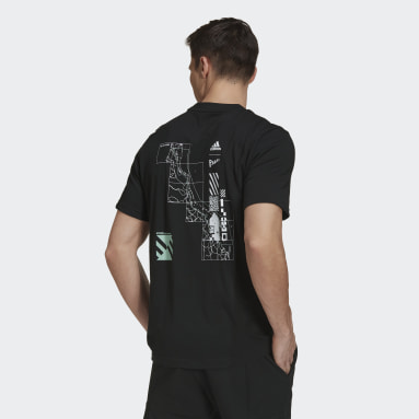 Men Tennis Black Tennis Parley Graphic T-Shirt
