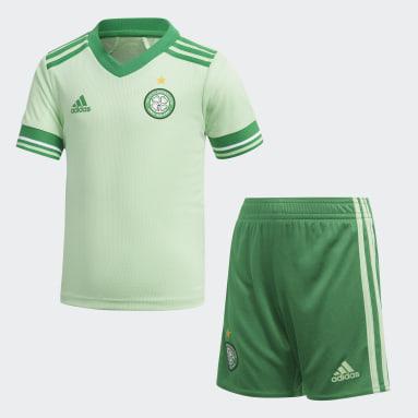 Kinder Fußball Celtic FC 20/21 Mini-Auswärtsausrüstung Grün