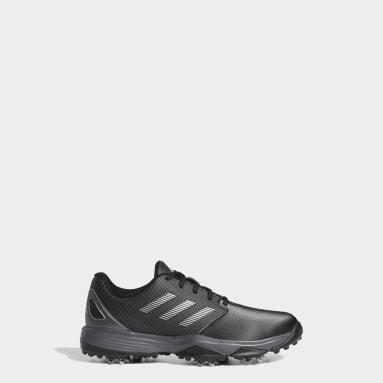 Kids Golf Black ZG21 Golf Shoes