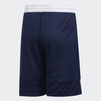 Kinderen Basketbal Blauw 3G Speed Reversible Short