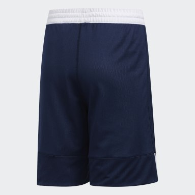 Barn Basket Blå 3G Speed Reversible Shorts