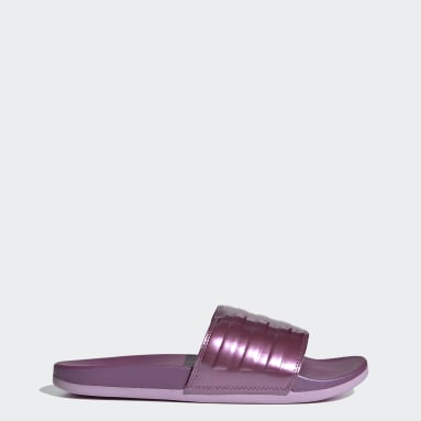 Women Swimming Pink Adilette Comfort Slides