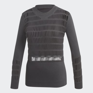 Polo Warp Knit Plomo Mujer adidas by Stella McCartney