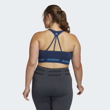 Women's Yoga Blue Training Aeroknit Bra (Plus Size)