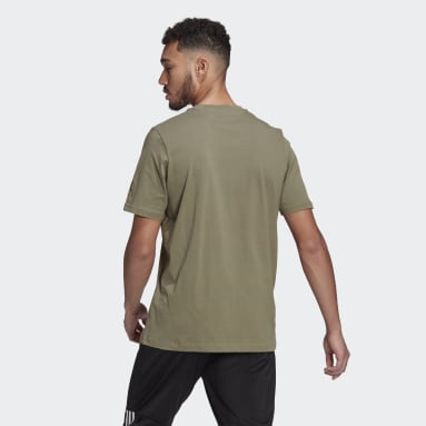 Camiseta Essentials Embroidered Linear Logo Gris Hombre Sportswear