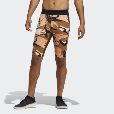 Men's Yoga White HEAT.RDY Techfit Camo Short Tights