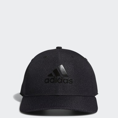 Men Golf Black Digital Print Cap