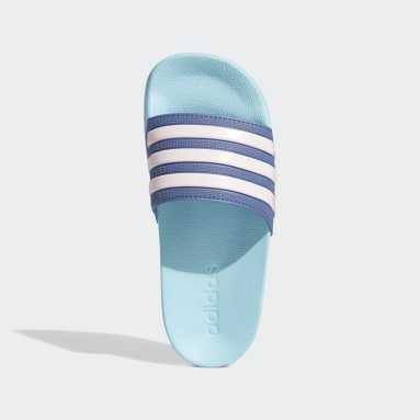 Children Yoga Blue Adilette Shower Slides