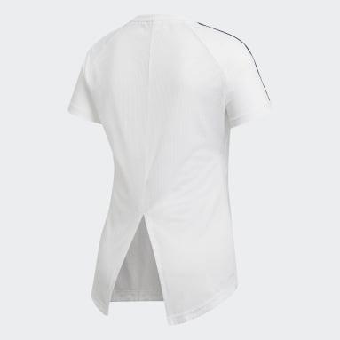 Ženy Cvičení A Trénink bílá Tričko Design 2 Move 3-Stripes