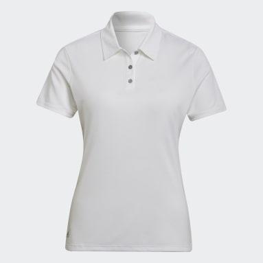 Ženy Golf bílá Polokošile Performance