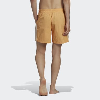 Men's Originals Orange Adicolor Classics 3-Stripes Swim Shorts