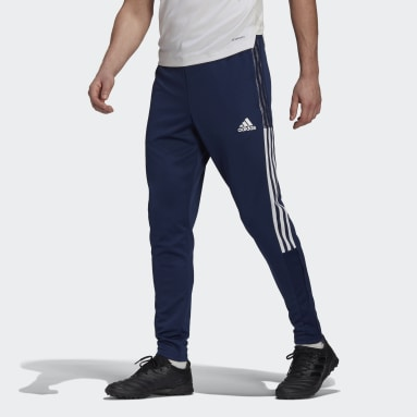 Men Football Blue Tiro 21 Tracksuit Bottoms