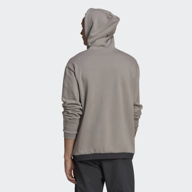 Men Originals Grey SPRT Archive Mixed Material Sweat Hoodie