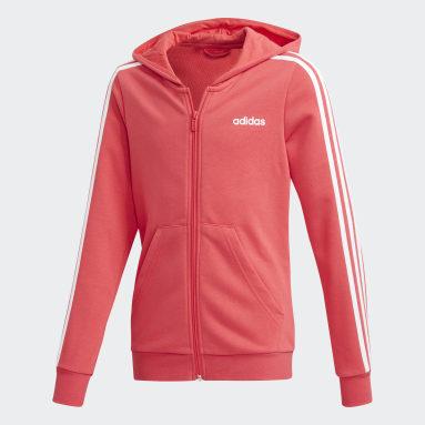 Felpa con cappuccio Essentials 3-Stripes Rosa Ragazza Sportswear