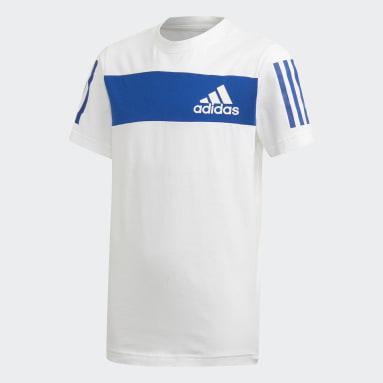 Jungen Yoga Sport ID T-Shirt Weiß