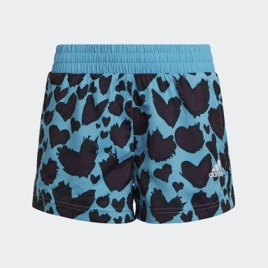 Meisjes Studio Turquoise AEROREADY Woven Short