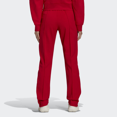 Women's Y-3 Red Y-3 Classic Slim Fitted Track Pants