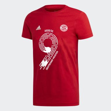 T-shirt National League Winner FC Bayern München Rosso Ragazzo Calcio